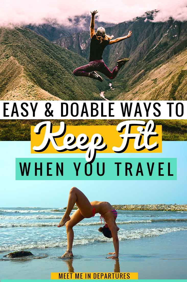 Backpack and stay fit, Easy ways to keep fit and travel, banish the backpacker belly with these easy keep fit ideas. Easy things that you can do while travelling to keep fit. #keepfit #fitnessgoals #stayfit #healthylifestyle