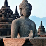 Borobudur at sunrise buddha