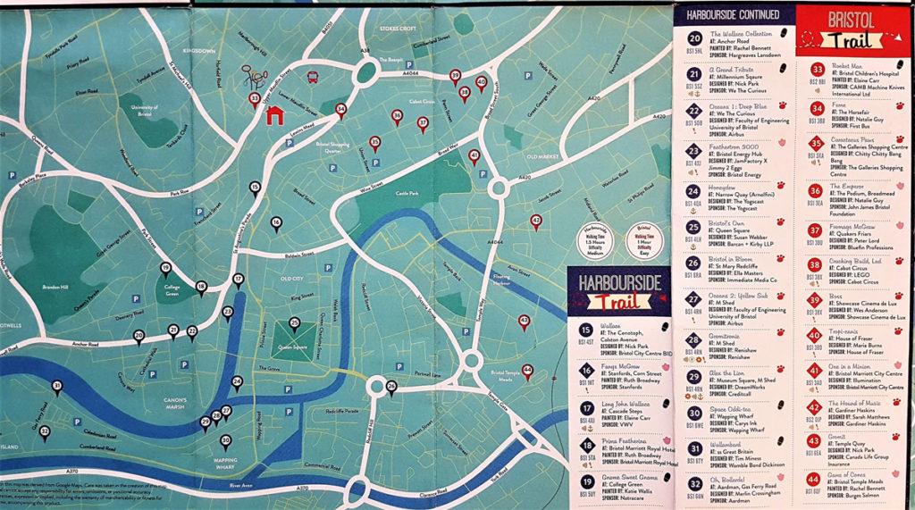 Bristol & Harbourside Trail Map