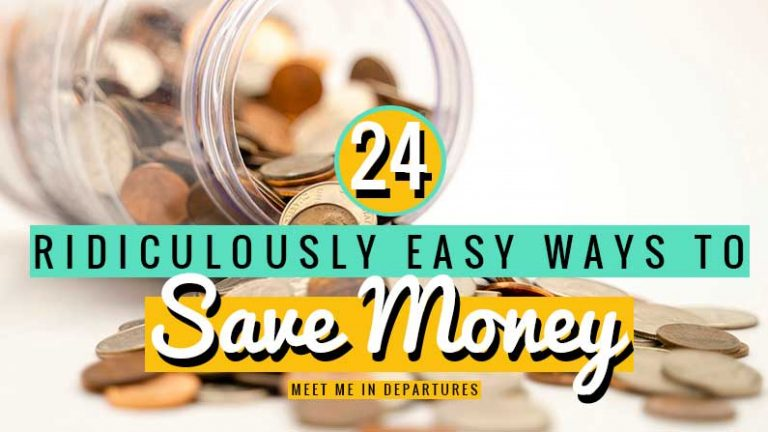 24 easy ways to help you save money for travel. Simple things you can start doing right away. Just imagine the thousands you'll save a year from now!