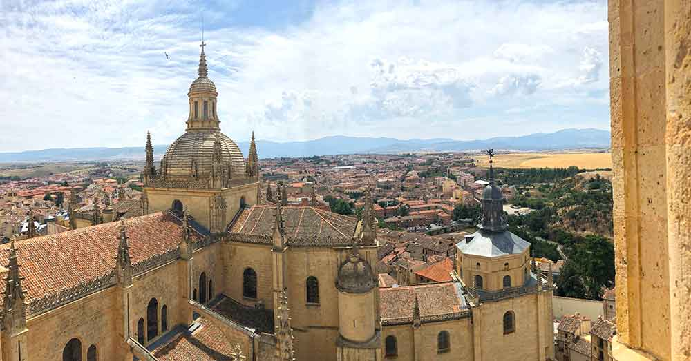 If you happen to be in the Capital of Spain, then you 100% need to take this day trip to Segovia from Madrid. The UNESCO listed city of Segovia is an easy day trip from the nation's Capital. #Spain #Europe #RomanRuins