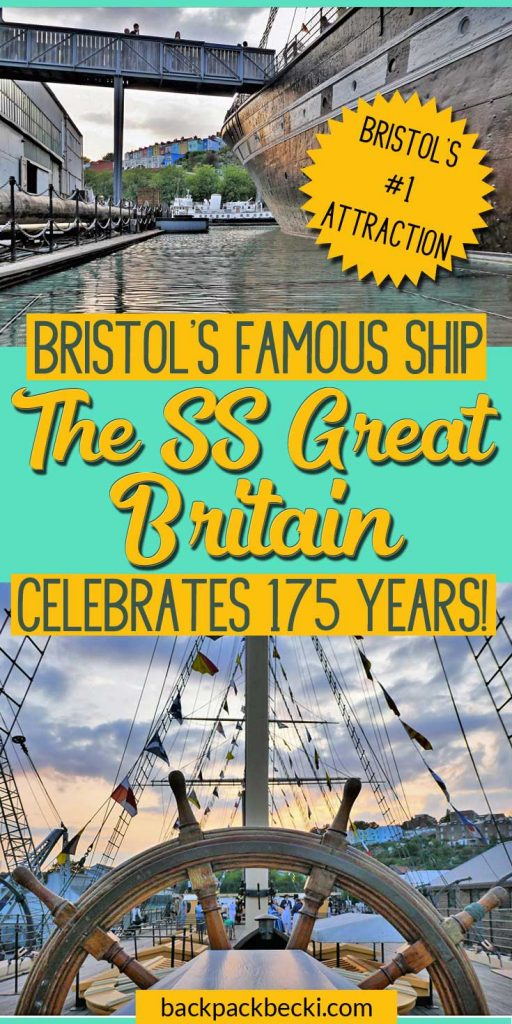 Visit Bristol numbe 1 attraction. The SS Great Britain, Brunles greatest ship. Bristol's famous ship celbrates her 175th birthday. A must visit while in Bristol UK. #Bristol #Ship #Brunel #SSGreatBritain #BrunelsGreatBritain #Bristol #VisitBristol
