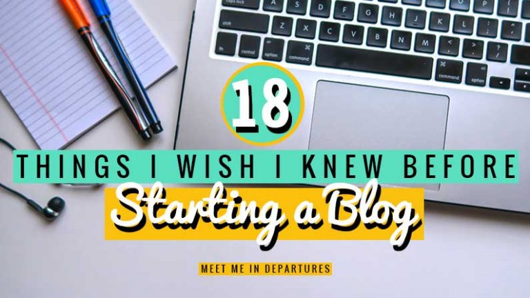 18 things I wish I knew before I started my blogging journey. Really useful tried & tested things that ALL new bloggers should know before starting your blog. #blogging #bloggingforbeginners #bloggingtips