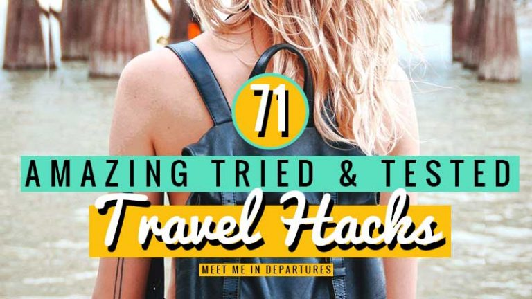71 Tried and Tested Travel Hacks Travel Tips & Backpacking Hacks to make your life easier, How to travel like a pro. Tips for backpacking and how to pack like a pro. Best packing hacks, best gadget hacks, best clothing hacks for travellers. #traveling #backpacking #travelhacks