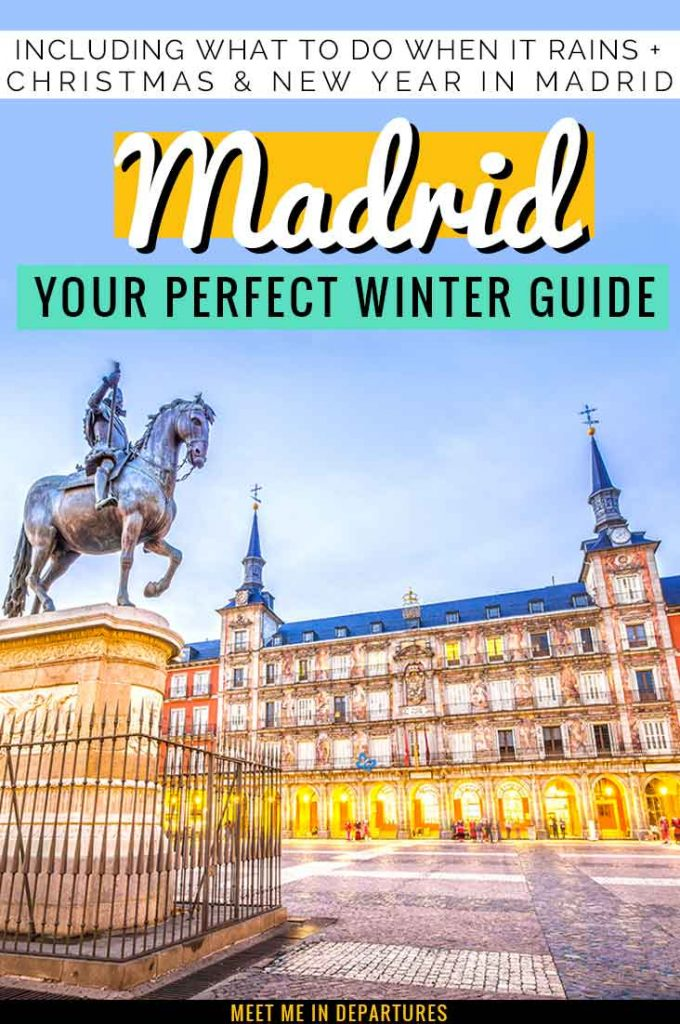 Visiting Madrid in Winter? Everything you need to know about planning an amazing trip in winter to the Spanish capital. Including 19 things to do in Madrid in winter. The best things to see in winter in Madrid. Including Christmas in Madrid and New Year's in Madrid. #EuropeWinter #Madrid #Spain