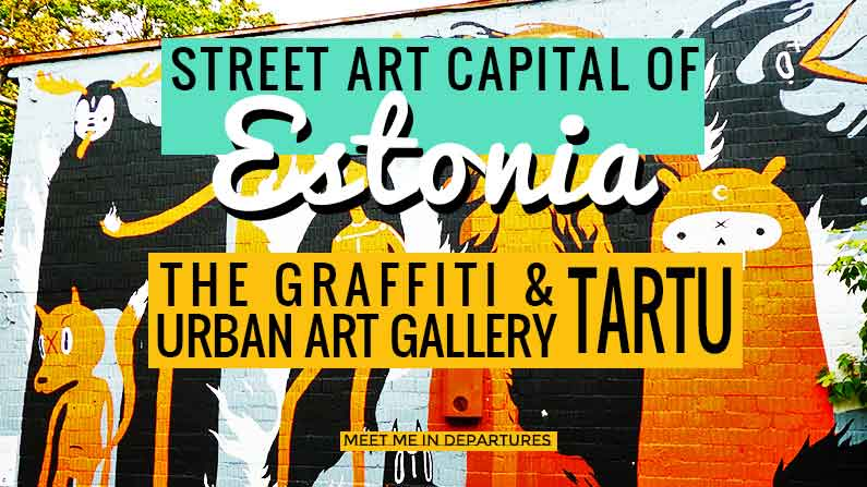 Estonia's Street Art Capital – Urban Art & The Tartu Graffiti Scene + Street Art Map with locations of this ever changing urban gallery. Tartu Graffiti - Estonias second largest city plays host to the nations street art hub. #graffiti #streetart #estonia #baltics #urbanart