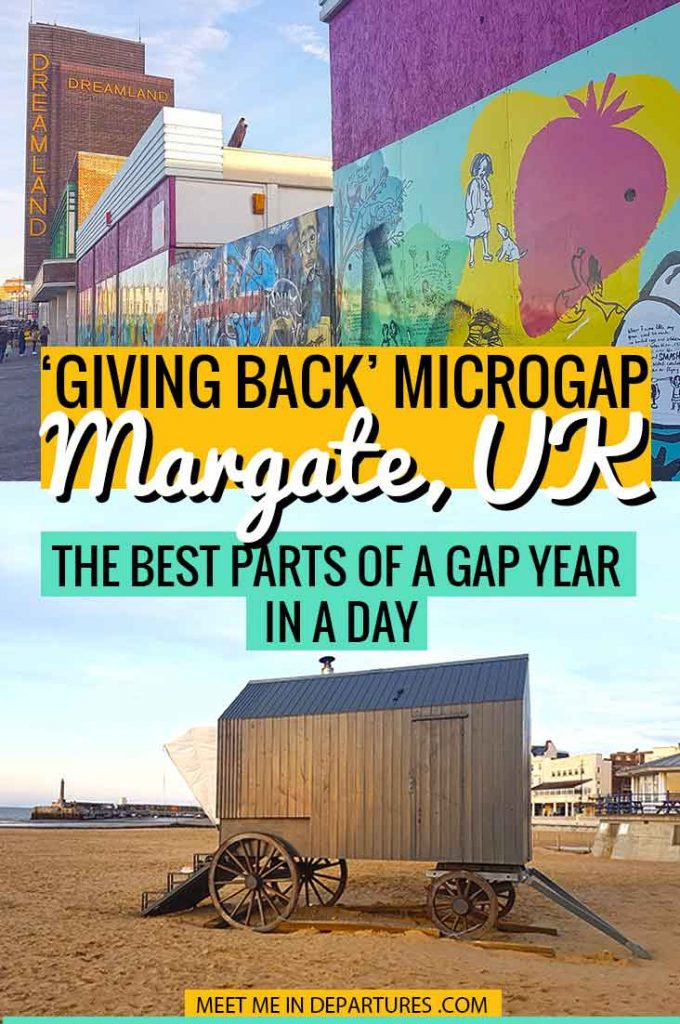 A Microgap in hipster and eco-conscious Margate. An ethical day trip from London to visit the trendy seaside town of Margate, UK to 'Give Back'. Find out all about Microgapping in the UK and how to cram amazing experiences into just one day. #Microgap #Microgapping #MyMicrogap #VisitEngland #GivingBack