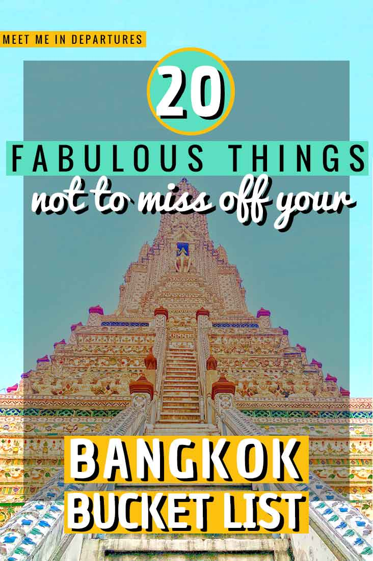 Visiting Thailand, then you need to check out this amazing Bangkok Bucket List. Who knew there were so many things NOT TO MISS in Bangkok. Includes DOWNLOADABLE CHECKLIST #Bangkok #Thailand #SEAsia