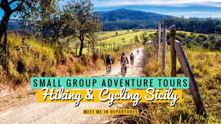 An exhilarating hiking & cycling Sicily trip is the best way to see the island 2 top-class companies bring you the best in Sicily small group tours. #Sicily #CyclingScicly #HikingSicily #Italy #MtEtna
