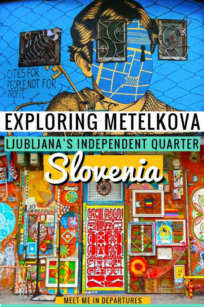 Metelkova Mesto the gritty underbelly of Slovenia & most visually stimulating district in Ljubljana. Find out more about Slovenia's most independent city and the street art in Ljubljana. Metelkova City is the cultural capital and hub of the Ljubljana street art scene. #Slovenia #Europe #StreetArt #Metelkova