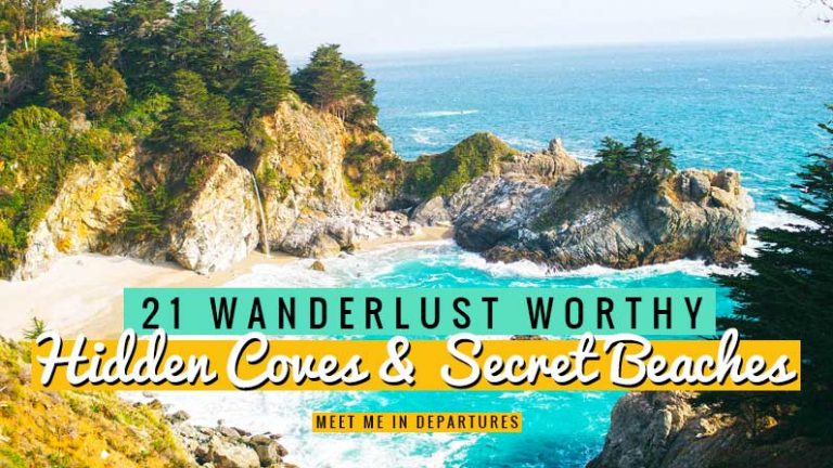 Wondering where the best hidden coves and secluded beaches are. 21 travel professionals and influencers spill the beans and tell you where to find them. This article tells you where the best hidden beaches and secret coves are all over the world. Looking for a secluded cave or remote beaches? you'll find them all here #beaches #hiddencoves #secludedgetaways #secretbeach #beautifuldestinations