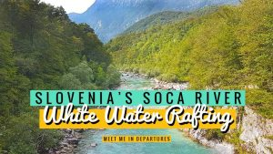 White water rafting in Slovenia, on the stunning Soča River